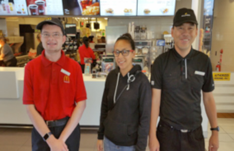 Kelton and Tommy work at McDonalds Restaurant with GO Job Coach, Virginia