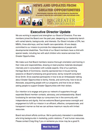 Greater Opportunities Email Newsletter March 20 2017