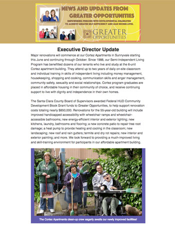 Greater Opportunities Email Newsletter May 16 2017